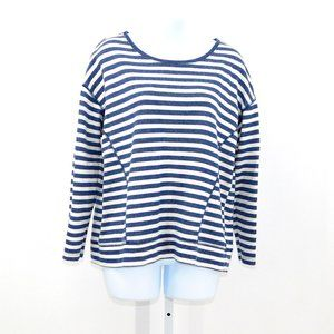 JCP Nautical Boat Neck Long Sleeve Pull-over Top